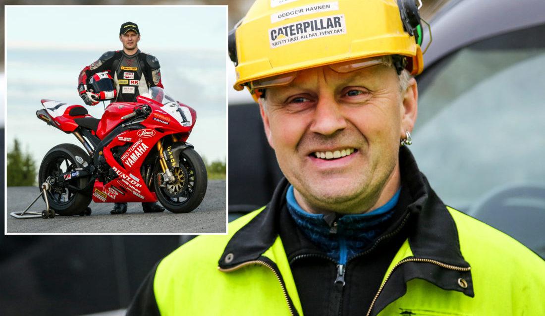 ANLEGGSMANN: Da den innholdsrike og suksessfulle roadracingkarrieren var over hadde Oddgeir Havnen utdanning innenfor anleggssektoren å falle tilbake på. (Foto: Runar F. Daler/Rene Skaret).