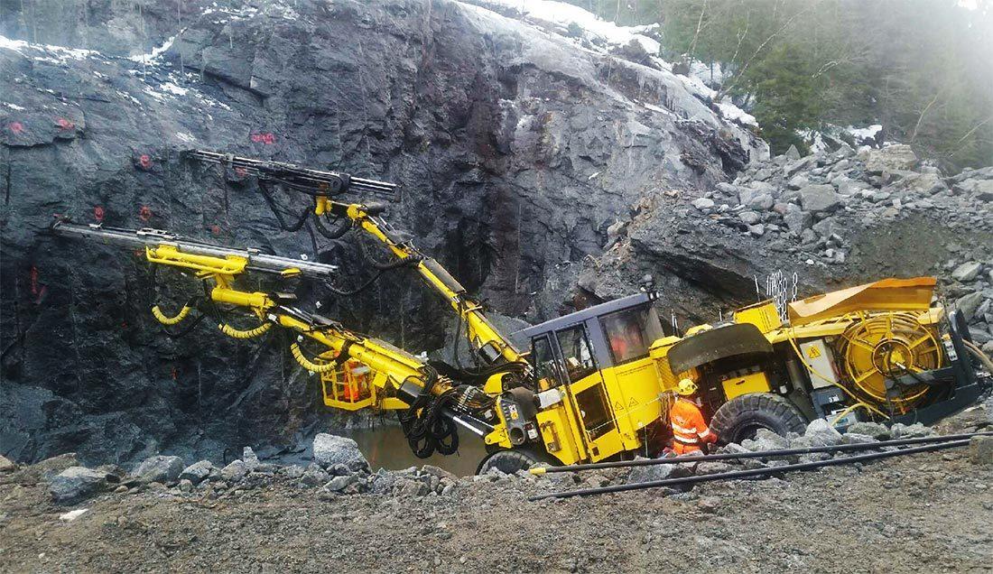Atlas Copco borerigg tunnel Stardalen kraftverk