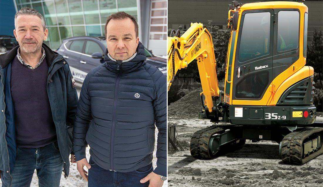Endre Dyngeland (t.v.) og Finn Thrane Johansen i EMS Norge AS