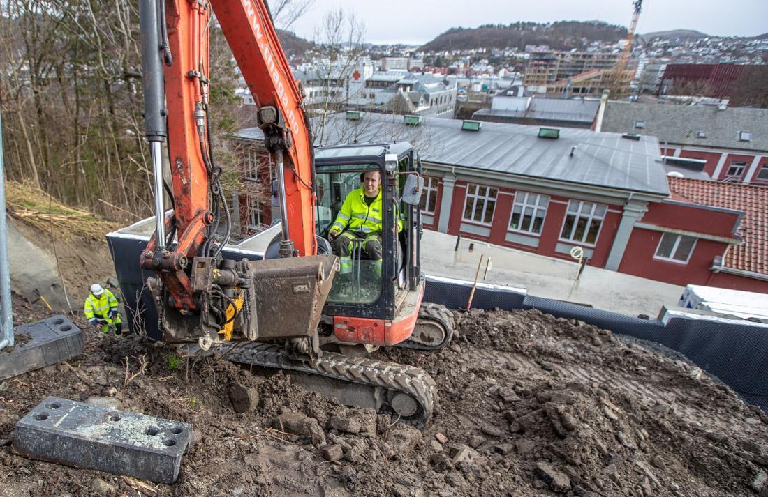 UTSIKT: Et boligprosjekt i Sandnes sentrum. Ole Morten Byberg i graveren.
