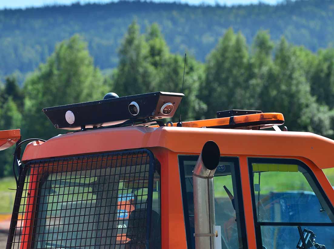 Kameraovervåking på anleggsmaskin
