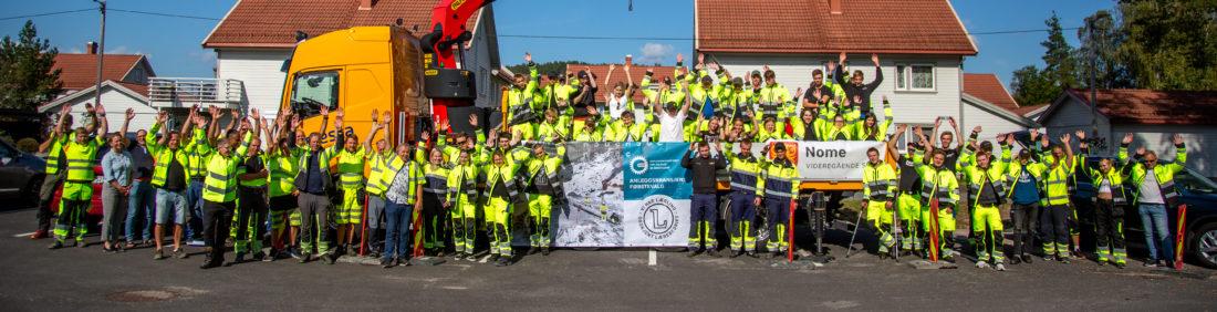 HMS-FOKUS: I begynnelsen av september fikk om lag 70 skolelever ved Lunde videregående skole, avdeling Nome, grundig innføring i sikkerhet, i løpet av en hel uke. «Sikkerhetsuka» er et pilotprosjekt for linjene Vg2 anleggsteknikk, Vg2 anleggsgartner, Vg2 skogbruk og Vg3 anleggsmaskinmekaniker. (Foto: Runar F. Daler).